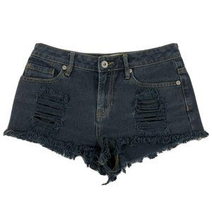 Gypsy Warrior Distressed Size 1 Shorts Black